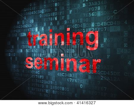 Education concept: Training Seminar on digital background