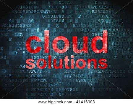 Cloud computing technology, networking concept: Cloud Solutions