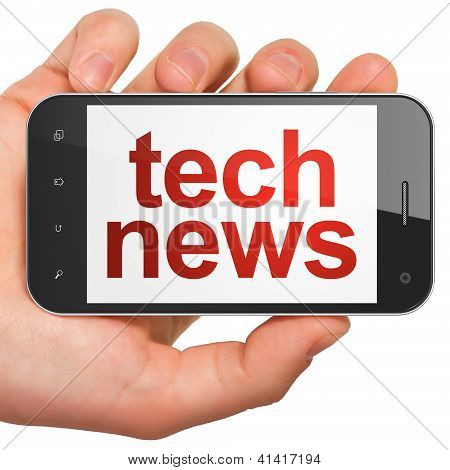 News concept: smartphone with Tech News