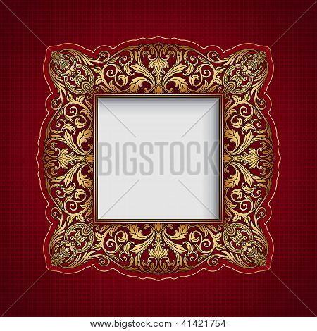 Vintage Ornamental Frame, Rich, Royal, Luxury Design, Creative, Trendy Gold Element For Page And Web