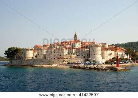 The Old Town of Korcula in Croatia