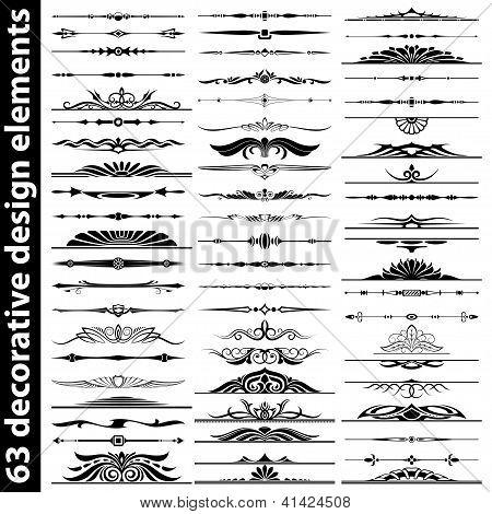 Conjunto de elementos de Design decorativo 63