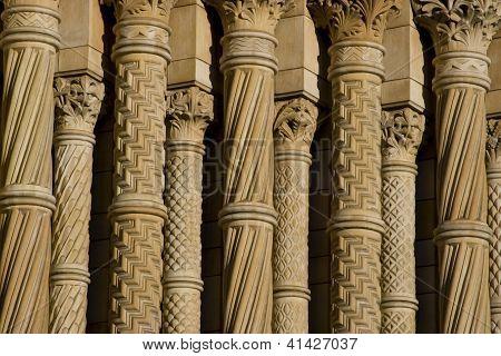 Row Of Historic Columns