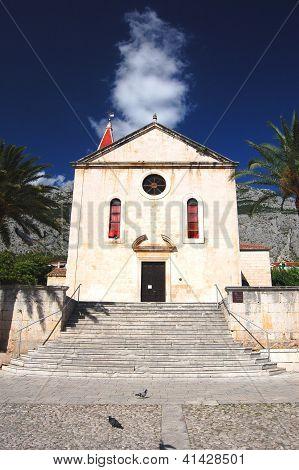 St. Mark's church on Kacicev square in Makarska, Croatia
