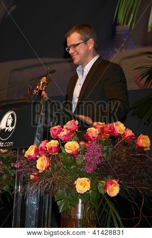 SANTA BARBARA - JAN 25:  Matt Damon arrives at the 2013 SBIFF Modern Masters Award presented to Ben Affleck at Arlington Theater on January 25, 2013 in Santa Barbara, CA