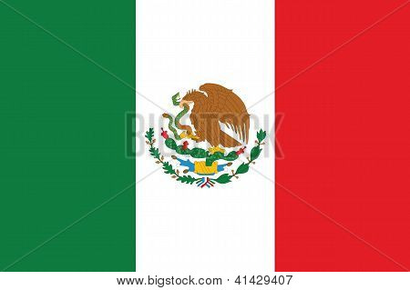 Illustrated Drawing of the flag of Mexico