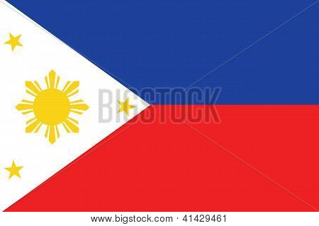 Illustrated Drawing of the flag of Phillipines