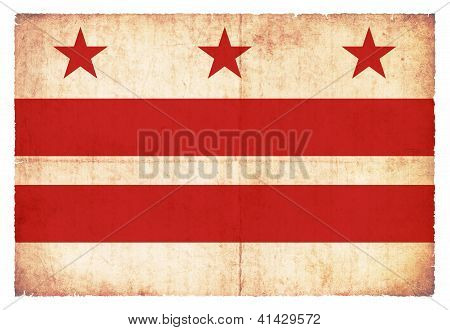 Grunge Flag Of Washington D.c. (usa)