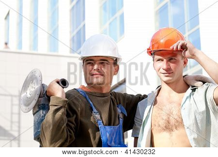 Two positive industrial workers