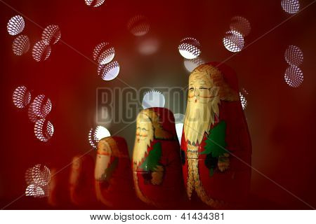 Traditional Wooden Christmas Matryoshka Dolls