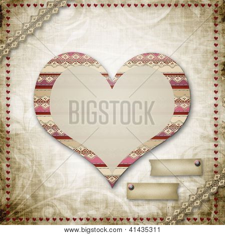 Vintage Grunge Background To A Festive Valentine's Day