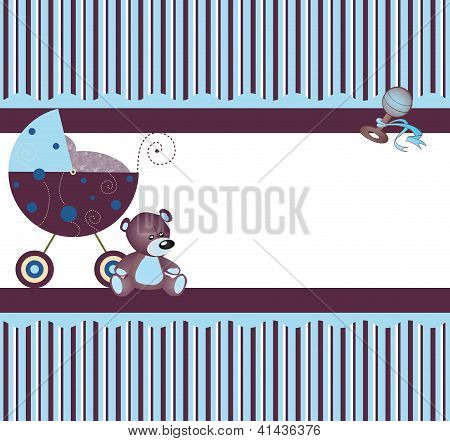 Blue carriage & pattern
