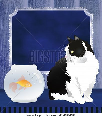 Cat and a fish