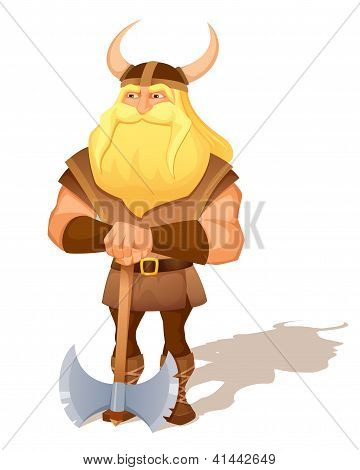 illustration of an old viking warrior