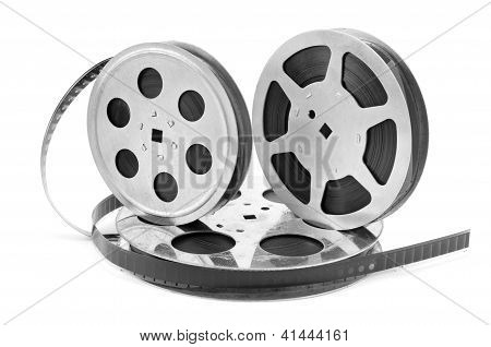 Old Film Strip On White Background