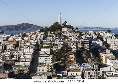 SAN FRANCISCO, CALIFORNIA - JAN 13:  San Francisco's board of Supervisors approved a $1.7 million fund for structural repairs at historic Coit Tower on January 13, 2013 in San Francisco, CA.