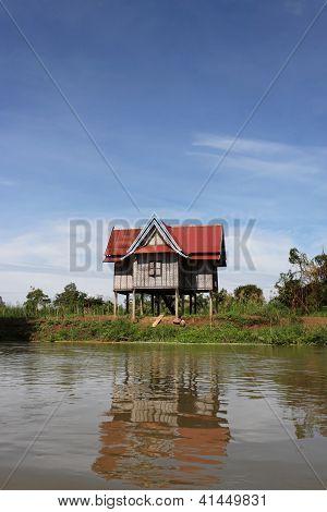 Attic on mekong river