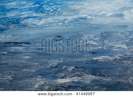 Landschaft in blau