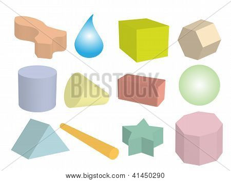 Set of Geometric Objects in Multi Colors