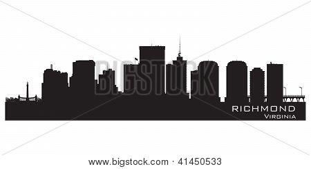 Richmond Skyline. Detailed City Silhouette