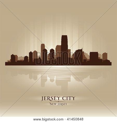 Jersey City, New Jersey Skyline City Silhouette