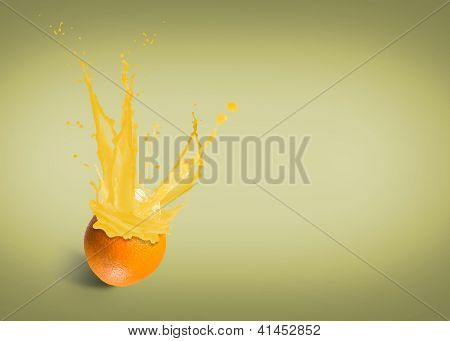 fresh orange juice with a splash