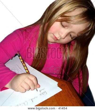 A Child Doing Homework