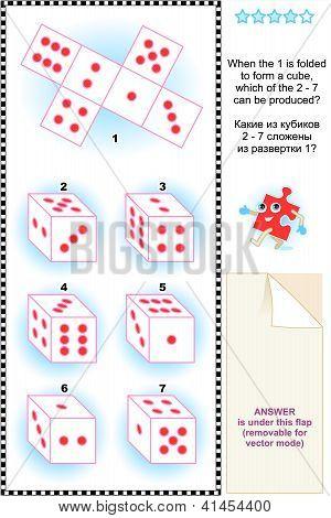 visuelle Math puzzle mit Würfel cubes