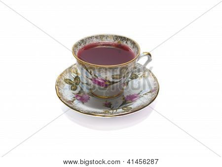 Porcelain Cup  Of Red Tea