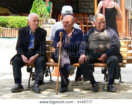 Three Old Man Talking