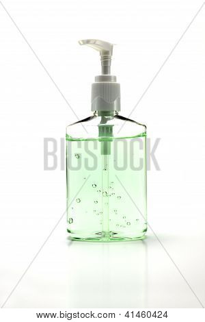 Hand Sanitizer Bottle On White