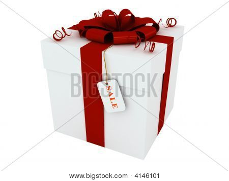 Gift Box With A Label