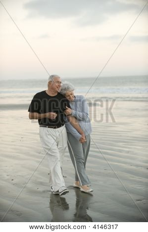 Seniors On The Beach