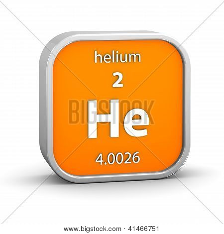 Helium Material Sign