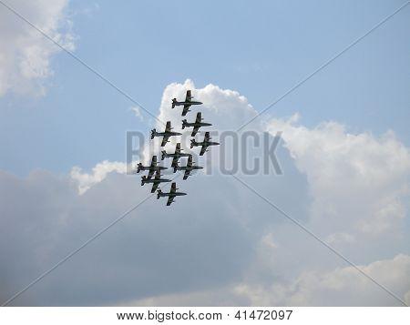 Aermacchi Mb-339 In Sky