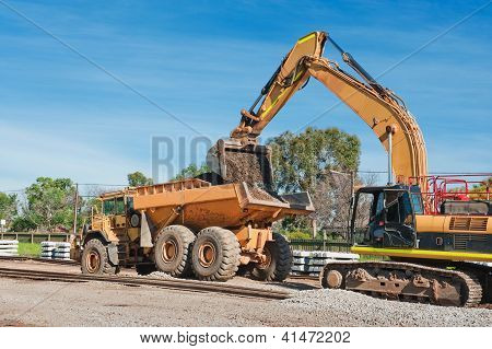 Preparação de faixa ferroviária para modernização