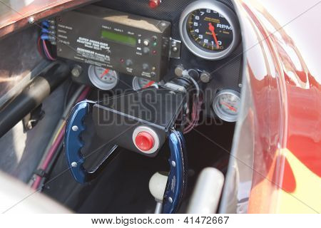 Red Drag Racer Interior