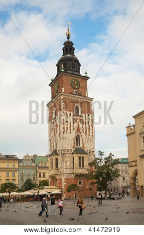 Town Hall Tower In Krakow, Poland