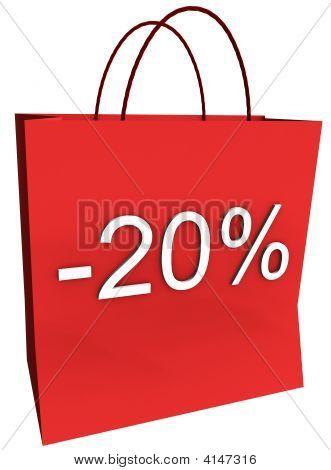 20 Percent Off Shopping Bag