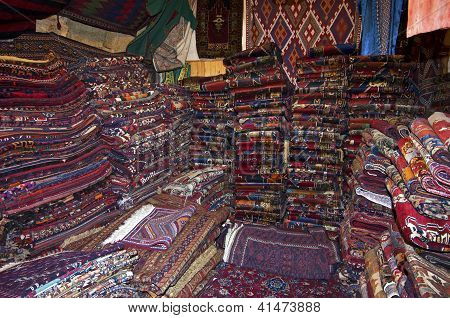 Piles of carpets