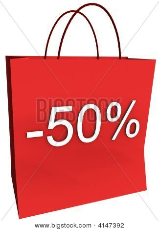 50 Percent Off Shopping Bag