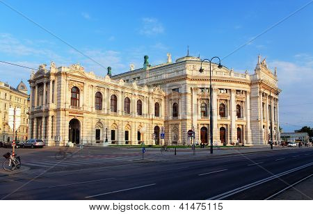 Burgtheater Is The Austrian National Theatre In Vienna