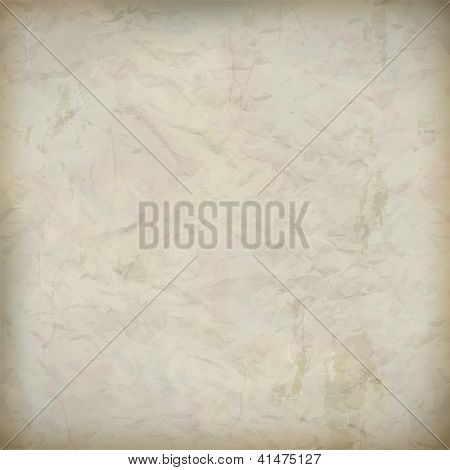 Vintage Crumpled Old Paper Textured Background