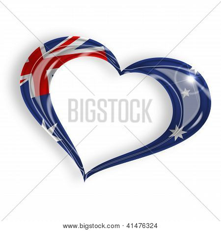 heart with australian flag