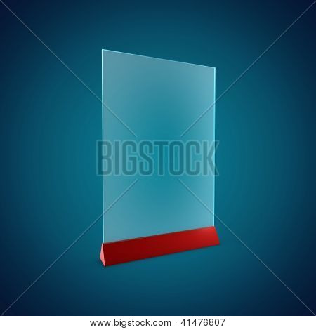 Blank Information Glass Holder