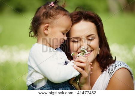 Happy Mother With Daughter