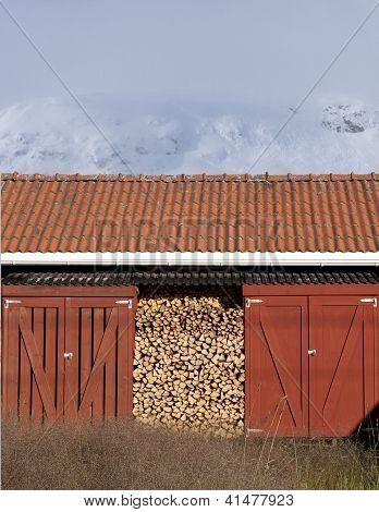 Better to be prepared. Firewood under shelter.