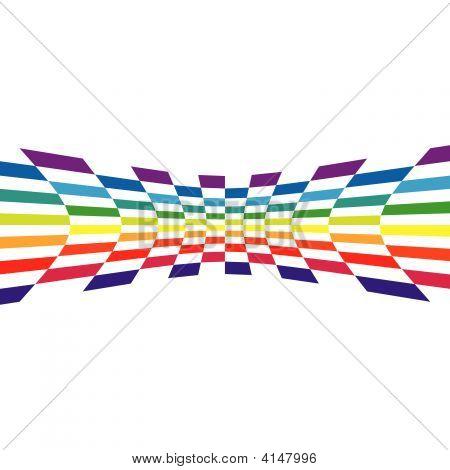 Parede quadriculada de arco-íris