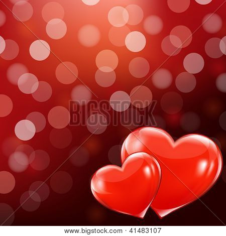 Valentines Day Illustration With Gradient Mesh, Vector Illustration