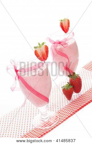 Luxurious Strawberry Shake.